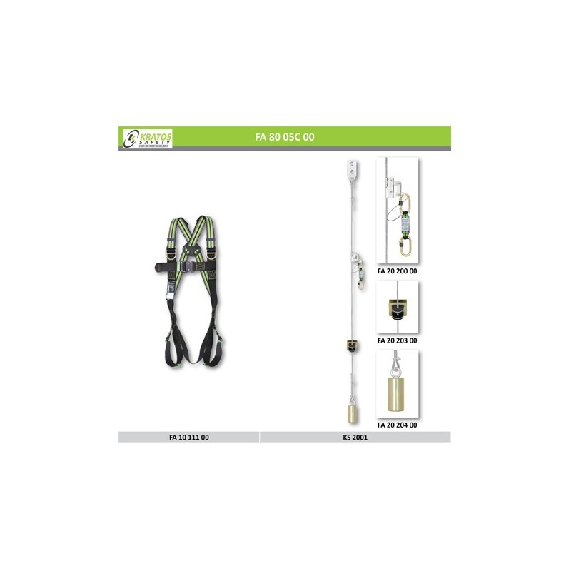 fixed ladder recommendation N°1 harness vertical fall arrest system