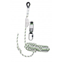 Guided type fall arrester on Kernmantle rope