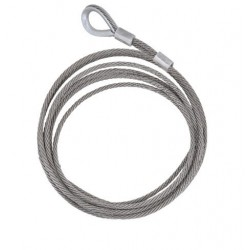 1st meter of Stainless steel wire rope with thimble and U-Bolt