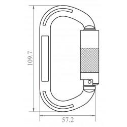 Mousqueton aluminium à verrouillage automatique 1/4 de tour