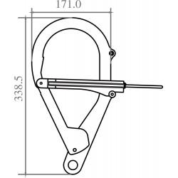 Crochet d'ancrage acier pour Perche Télescopique