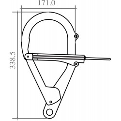 Steel anchorage hook for the telescopic pole