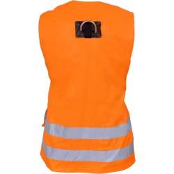 Harnais Gilet haute visibilité orange