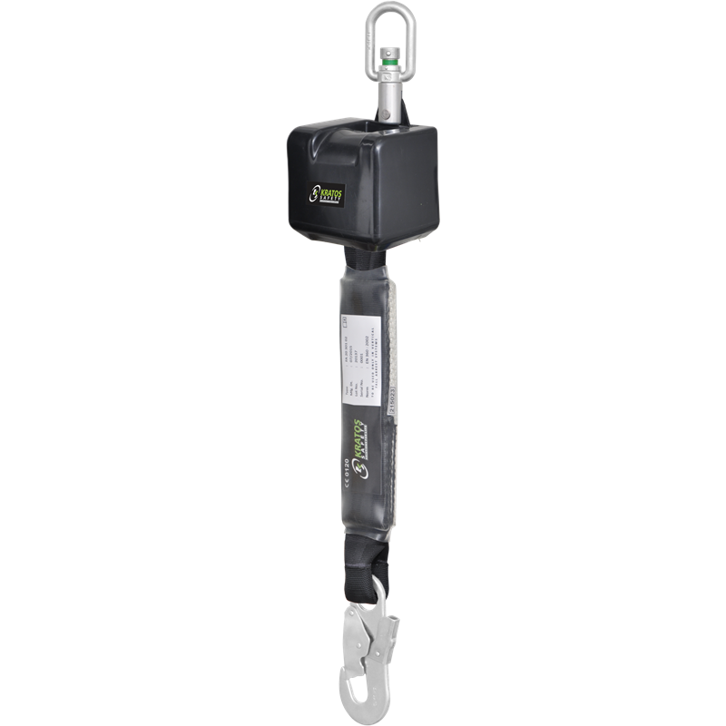Retractable fall arrester with webbing lanyard