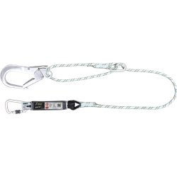 Energy absorbing kernmantle rope lanyard 2 mtr with ring adjuster