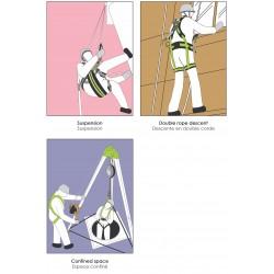 Harnais antichute pour travail en suspension confort