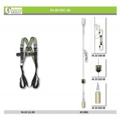 Échelle fixe - Proposition n°1 (Harnais + Système antichute vertical sur câble)