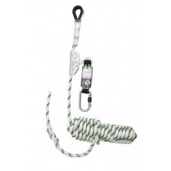Antichute coulissant sur corde tressée 20 m avec absorbeur d'énergie