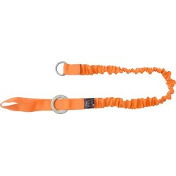 Stretch lanyard for connecting heavy tools