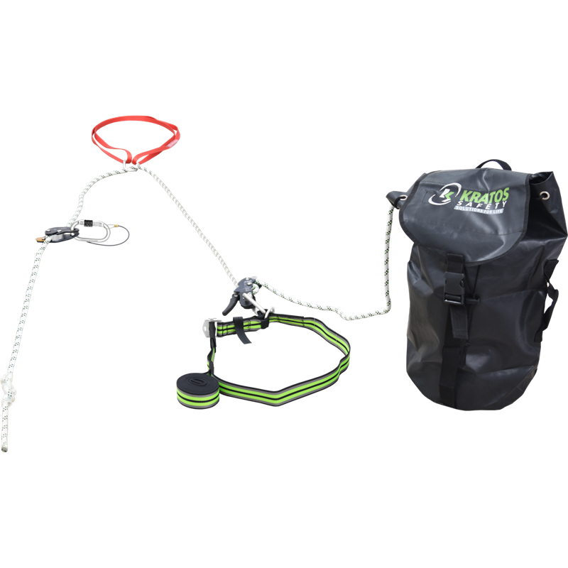 2 in 1 fall arrest system with pre-incorporated evacuation feature, 50 mtr