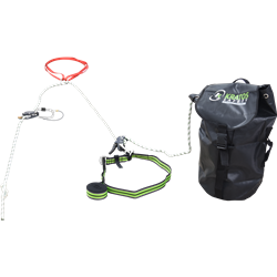 2 in 1 fall arrest system with pre-incorporated evacuation feature, 30 mtr