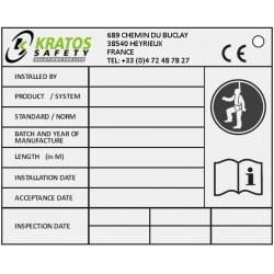 Identifikationsplatte für Systeme KS