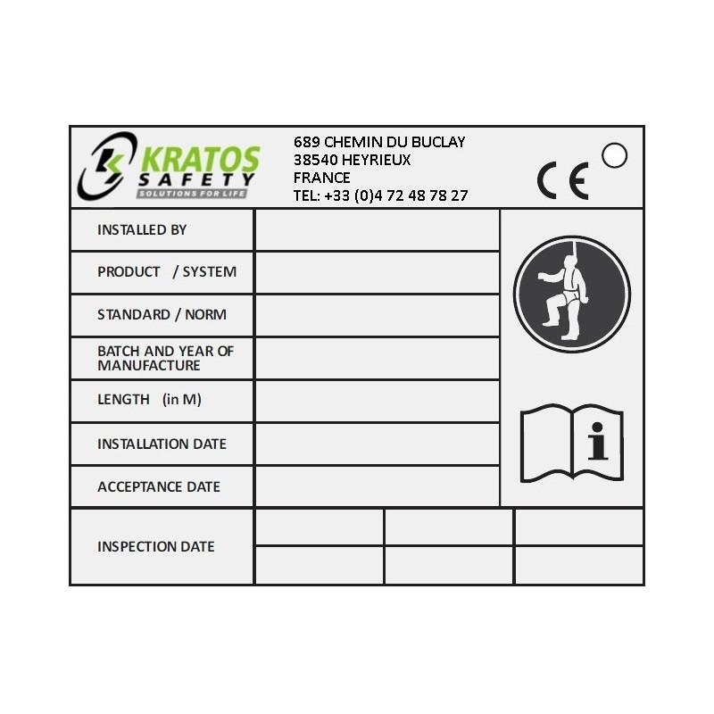 Plaquette d'identification pour systèmes KS