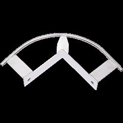 Intermédiaire d'angle 90° (pour mur extérieur) pour ligne de vie horizontale câble KS-Line (KS 4000)