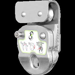 Navette ouvrable sur roulettes pour ligne de vie horizontale câble KS-Line (KS 4000)