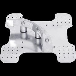 Potelet de virage de ligne de vie horizontale câble KS-Line (KS 4000) pour couverture bac acier