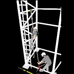 Kit antichute avec système d'évacuation pré-incorporé, 30 m