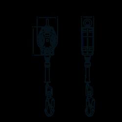 HELIXON Stahldrahtseil, Höhensicherungsgerät mit automatischem Rückzug 7 m, für vertikale Verwendung