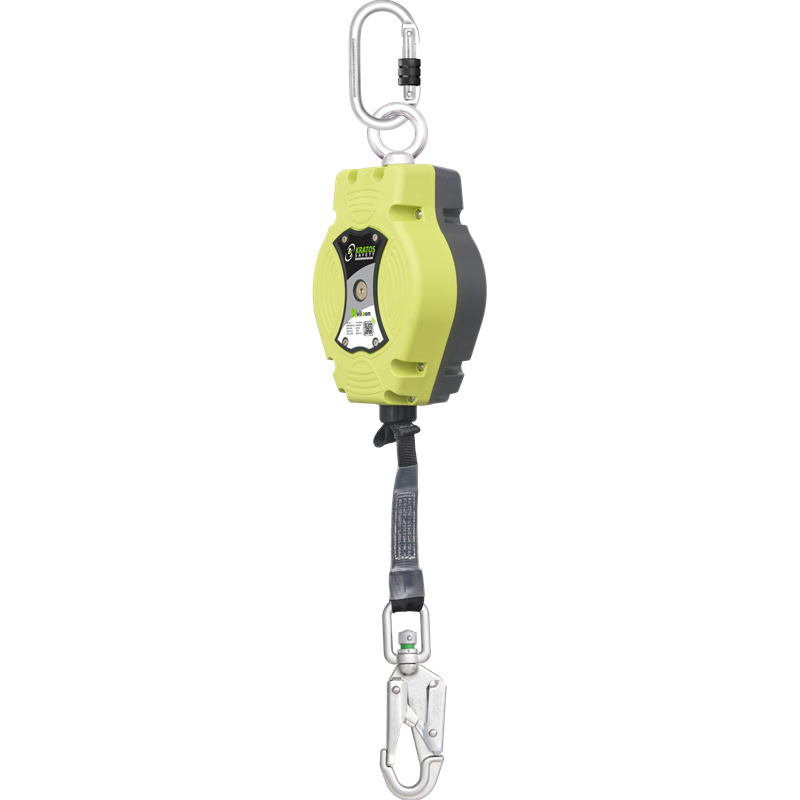 HELIXON Polyestergurtband, Höhensicherungsgerät mit automatischem Rückzug 6 m, Nur für den vertikalen Gebrauch