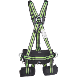 Suspension body harness with work positioning belt