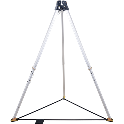 Trépied avec double poulie sur tête, hauteur maxi 2,15 m