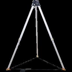 Trípode - altura máxi 2,15 m, con cabeza de doble polea