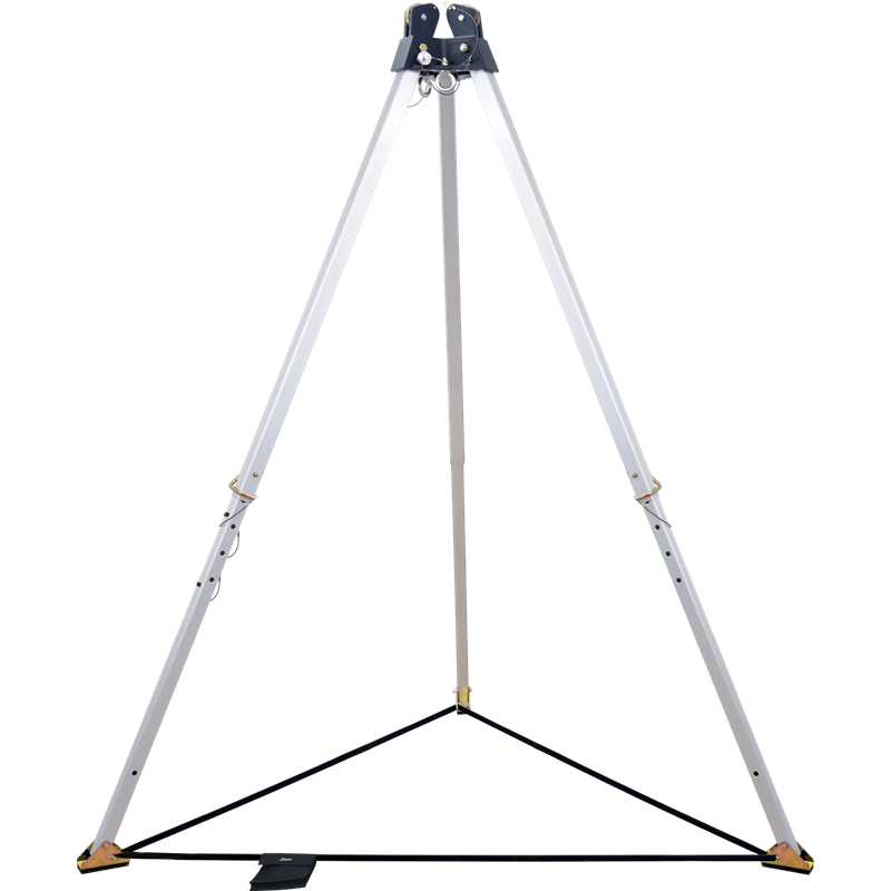 7 ft. Tripod, with double head-mounted pulley