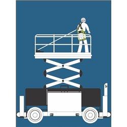 OLYMPE-S Gurtband, Höhensicherungsgerät Länge 1,75 m - für Arbeitsbühne