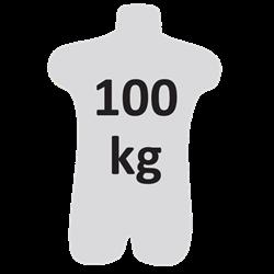 Longe tressée 1,50 m en fourche avec absorbeur d'énergie et mousquetons FA 50 101 17 et FA 50 207 55
