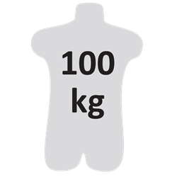 Longe fourche en sangle 1,80 m avec absorbeur d'énergie et connecteurs FA5010117 et FA5020755
