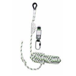 Antichute coulissant sur corde tressée 15 m avec absorbeur d'énergie