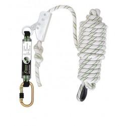 Antichute coulissant sur corde tressée 5 m avec absorbeur d'énergie