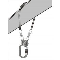 Elingue d'ancrage en câble 1m