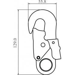 Mousqueton acier à verrouillage automatique double action
