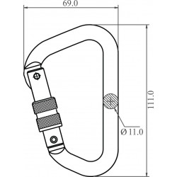 Aluminium Screw-locking Karabiner