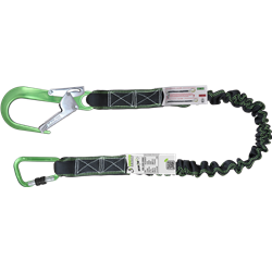 Expandable lanyard 2 mtr with energy absorber integrated in the lanyard
