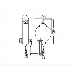 Carter plastique avec câble acier galvanisé Lg 30 mtr