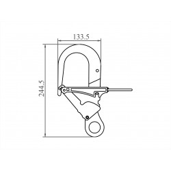 Anchorage Hook for telescopic pole