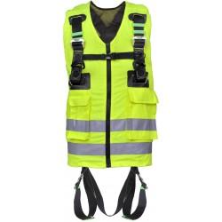 Arnés anticaída 2 puntos de enganche con chaleco de trabajo alta visibilidad amarillo
