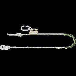 Work Positioning Kernmantle Rope Lanyard with grip adjuster, 4m