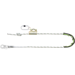 Work Positioning Kernmantle Rope Lanyard with grip adjuster, 4m