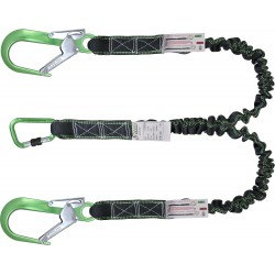 Energy absorbing expandable lanyard 2 mtr with connectors FA5020217 and FA5020755