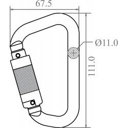 Aluminium Quarter turn locking Karabiner