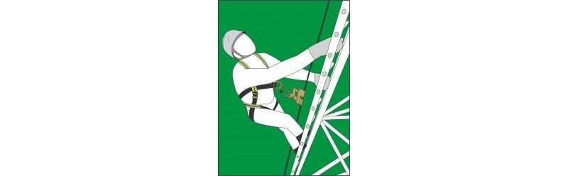 Sets für Arbeiten auf einer fix installierten Leiter