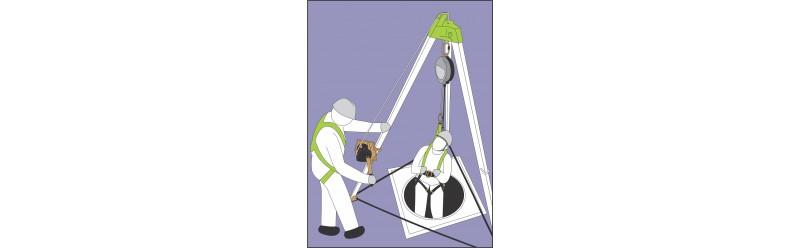 Kit pronti all'uso per il lavoro in uno spazio verticale confinato