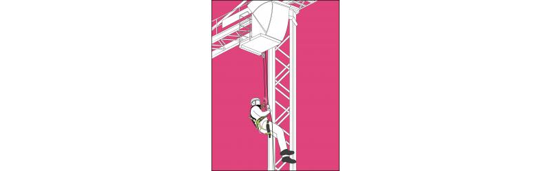 Sets für Arbeiten im Seil hängend